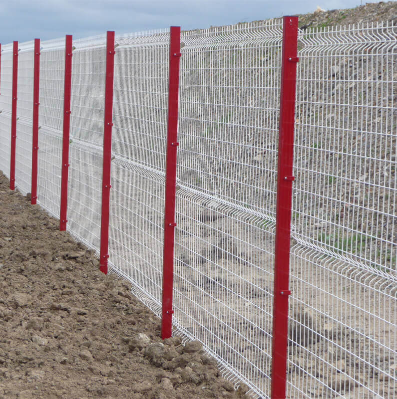 Grillage, protection de chantier, séparation de terrain pour professionnel, clôture et portail - Morisseau Paysagistes Nantes