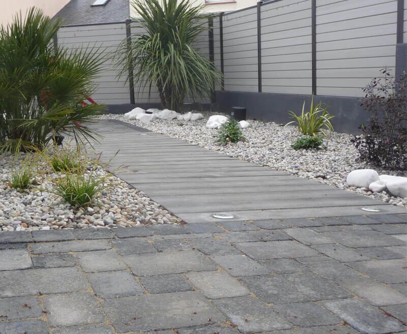 Aménagement d'allée, dallage, création de jardin pour les particuliers - Morisseau Paysagistes Nantes