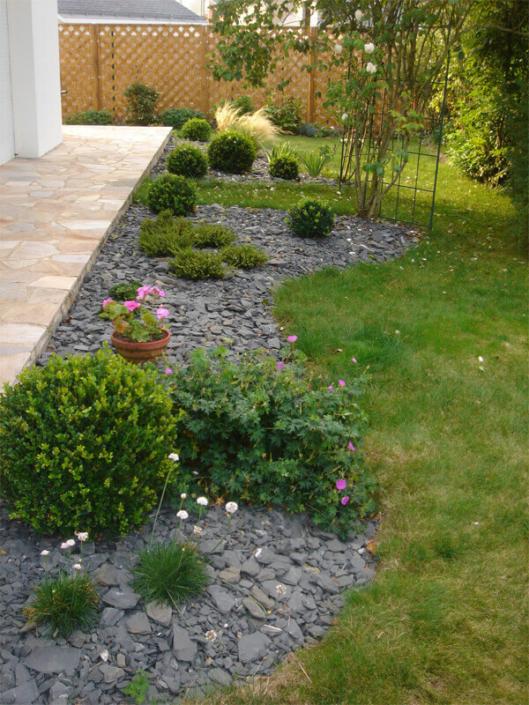 Aménagement de jardin, plante, ardoise, création de jardin pour les particuliers - Morisseau Paysagistes Nantes