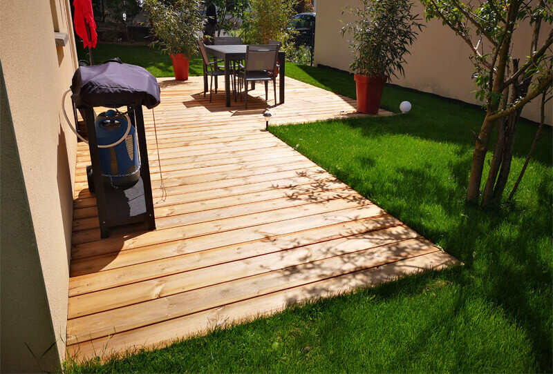 Aménagement de jardin, terrasse, arbres, création de jardin pour les particuliers - Morisseau Paysagistes Nantes