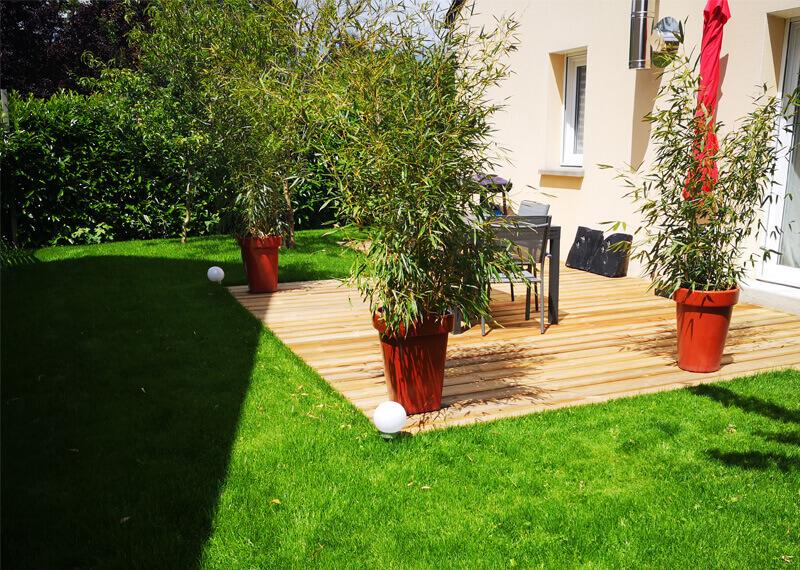 Aménagement de jardin, terrasse, plantes, création de jardin pour les particuliers - Morisseau Paysagistes Nantes