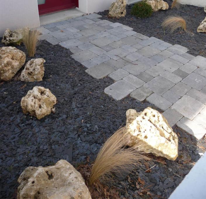 Aménagement d'allée, pavage, création de jardin pour les particuliers - Morisseau Paysagistes Nantes