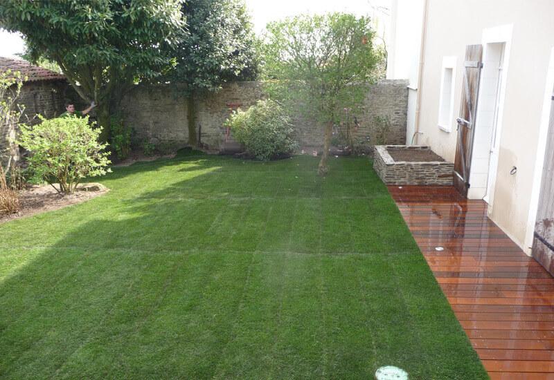 Entretien de jardin, terrasse, tonte pelouse, entretien de jardin pour les particuliers - Morisseau Paysagistes Nantes