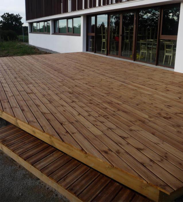 Aménagement de jardin, terrasse, création d'espaces verts, création de jardin pour les professionnels - Morisseau Paysagistes Nantes